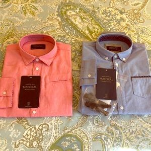 2 BNWT size4 Mayoral LS button down shirts